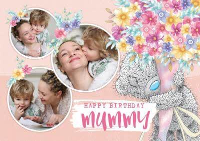 Cute Tatty Teddy Birthday Card for Mummy - Photo Upload
