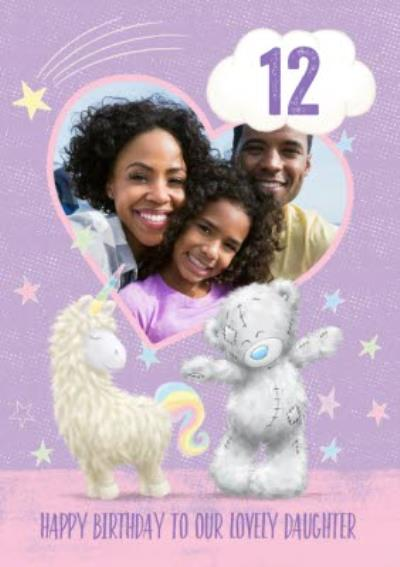 Cute Tatty Teddy Birthday Card - Daughter - Photo Upload