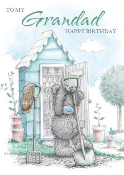 CuteTatty Teddy Happy Birthday Card - Grandad