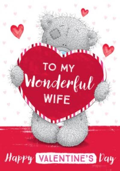 Me To You To My Wonderful Wife Happy Valentine's Day Card