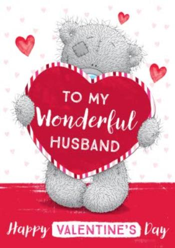 For My Husband On Valentines Day Card