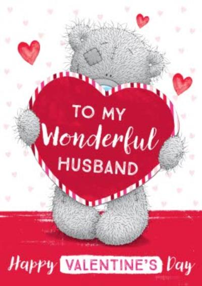 Me To You To My Wonderful Husband Happy Valentine's Day Card