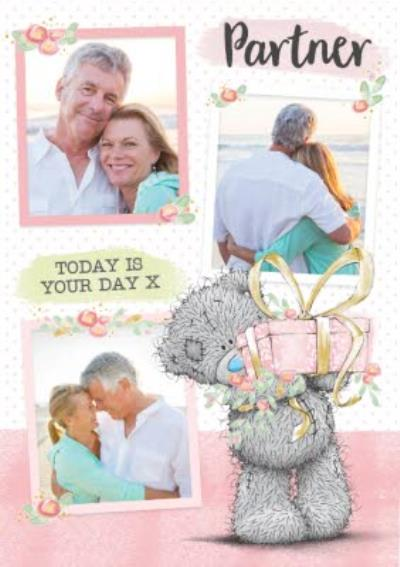 Partner Birthday Card - tatty teddy - photo upload card
