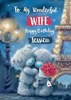 Me To You Tatty Teddy Bears Eiffel Tower romantic cute Wife birthday Card