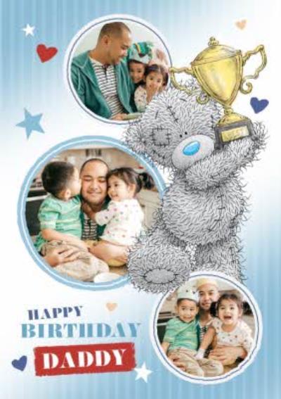 Cute Tatty Teddy Daddy Happy Birthday Photo Upload Card.