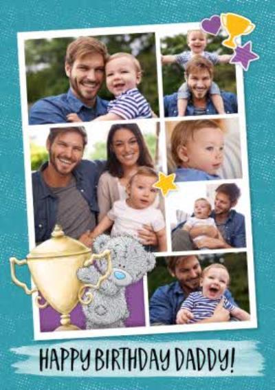 Me To You Tatty Teddy Birthday Multi - Photo Card For Dad! - Photo upload cute Daddy Birthday card
