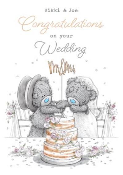 Me To You Tatty Teddy Congratulations On your Wedding day Mr & Mrs wedding card