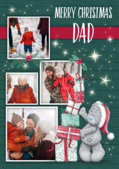 Me To You Tatty Teddy Photo Upload Christmas Card for Dad