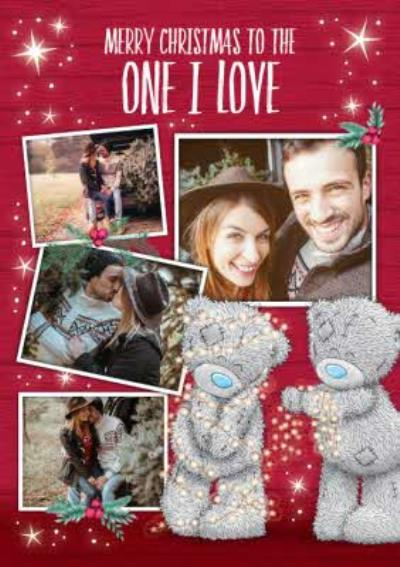 Me To You Tatty Teddy Photo Upload Christmas Card To The One I love