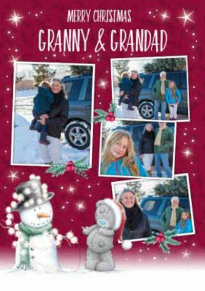 Me To You Tatty Teddy Photo Upload Christmas Card for Granny & Grandad