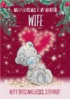 Me Me To You Tatty Teddy cute Christmas Card To My Beautiful Wife