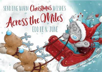 Me To You Tatty Teddy Across The Miles Christmas Card