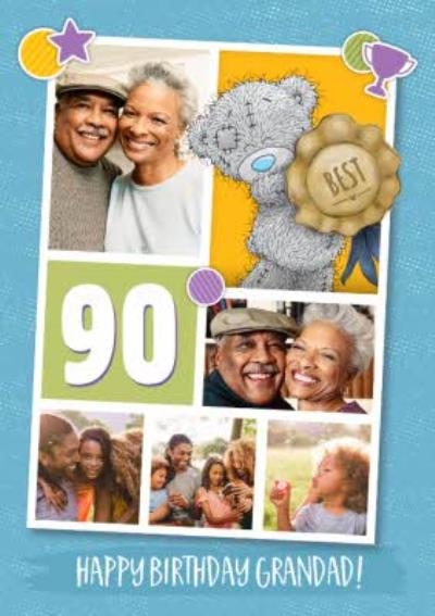 Me To You Tatty Teddy Photo Upload Grandad 90th Birthday Card