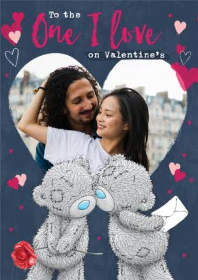 Me To You Tatty Teddy One I Love Heart Photo Upload Valentine's Card