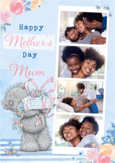 Me To You Tatty Teddy Floral Multi Photo Upload Mother's Day Card