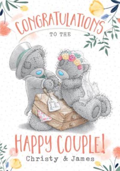 Cute Tatty Teddy Congratulations To The Happy Couple Wedding Card