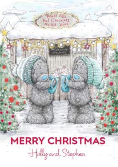 Me To You Tatty Teddy Hot Chocolate Christmas Card