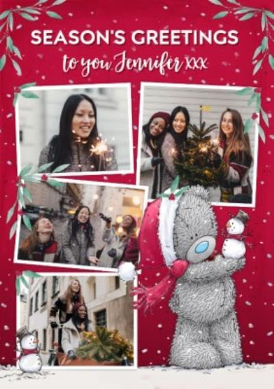Me To You Tatty Teddy Seasons Greetings Photo Upload Christmas Card