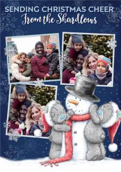 Me To You Tatty Teddy Christmas Cheer Photo Upload Card