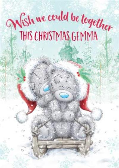 Me To You Tatty Teddy Wish We Could Be Together Christmas Card