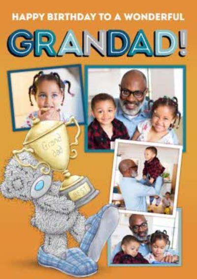 Me To You Tatty Teddy Happy Birthday To A  Wonderful Grandad Photo Upload Card