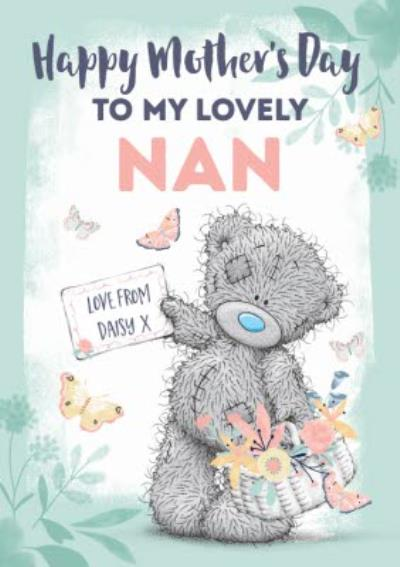 Me To You Tatty Teddy To My Lovely Nan Cute Mother's Day Card