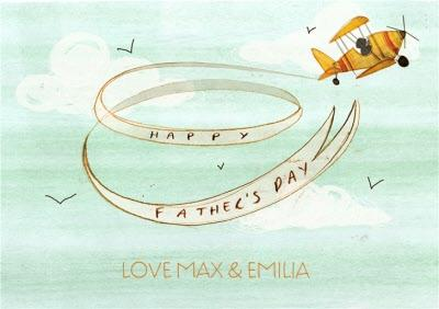 Vintage Plane Happy Fathers Day Card