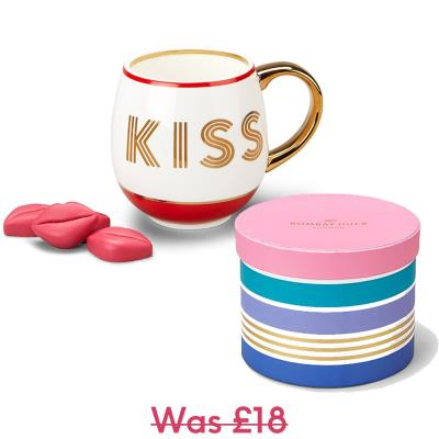 Kiss Mug & Chocolate Lips Gift Set