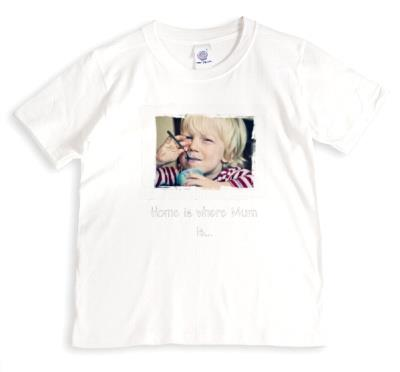 Mother's Day Home Is Where Mum Is Photo Upload T-Shirt