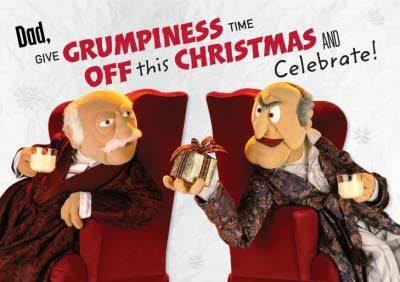 The Muppets Waldorf And Statler Give Grumpiness A Break Funny Christmas Card