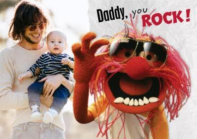 The Muppets Daddy, You Rock Photo Card