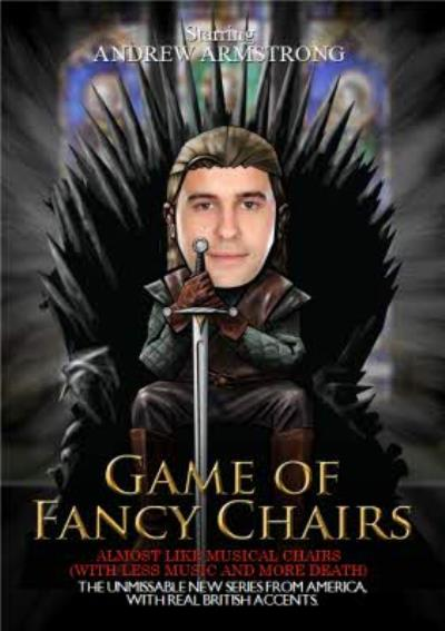 Spoof Birthday Cards - Game Of Fancy Chairs