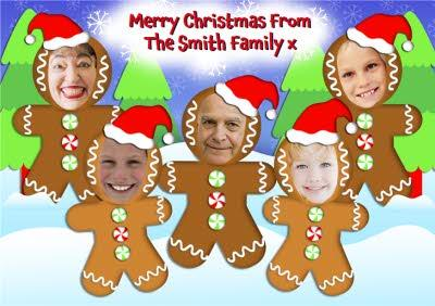 Gingerbread Family Photo Christmas Card