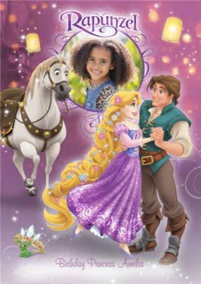 Disney Rapunzel Birthday Princess Photo Card Moonpig