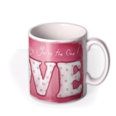 Valentine's Day Tatty Teddy LOVE Personalised Mug