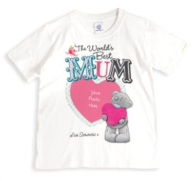 Mother's Day Tatty Teddy Best Mum Photo Upload T-shirt