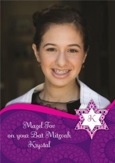 Photo Bat Mitzvah Card