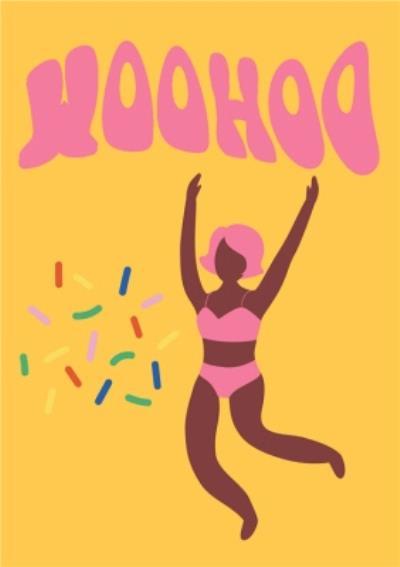 Modern Confetti Woohoo Celebrate Card