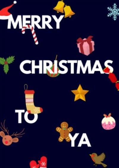 Stylized Modern Merry Christmas To Ya Card