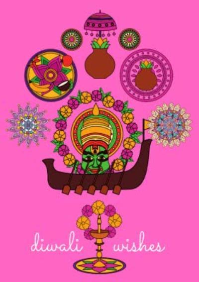 Modern Illustration Diwali Wishes Card