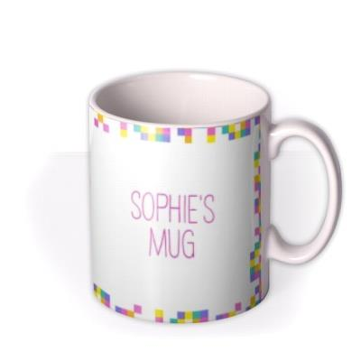 Neon Digital Pixels Personalised and Photo Upload Mug