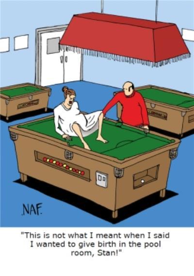 Pool Room Funny Joke Personalised Greetings Card