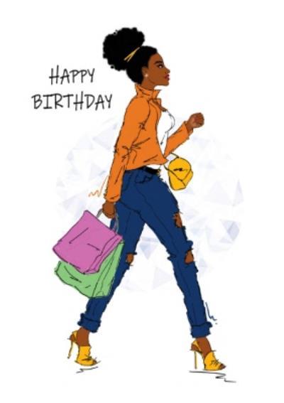 Woman Fashion Shopping Birthday
