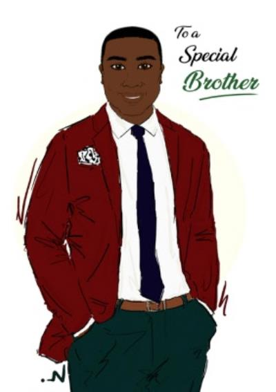 To A Special Brother Blazer Card