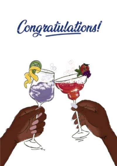 Congratulations Cheers Cocktails Card