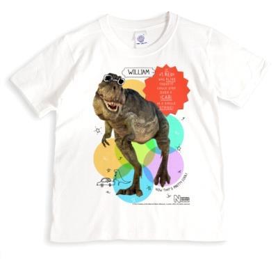Dinosaur T-Rex Sunglasses Personalised T-shirt