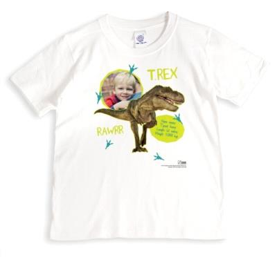 Dinosaur T-Rex Photo Upload T-shirt