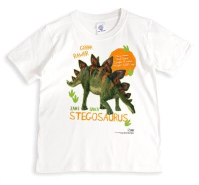 Stegosaurus Dinosaur Custom Print T-Shirt