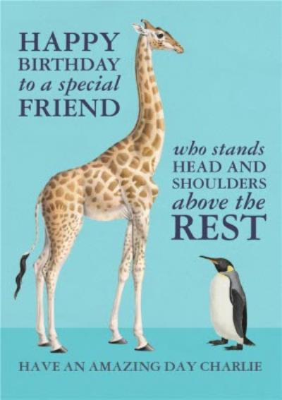 NHM Natural History Museum Head and shoulders above the rest Special Friend birthday card