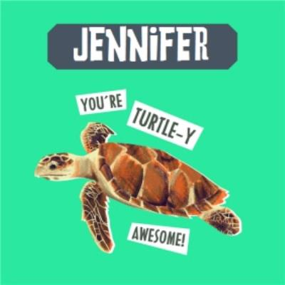 Natural History Museum You're Turtle-y Awesome Birthday Card